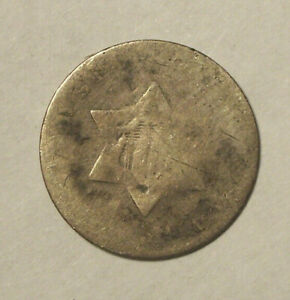 18?? THREE CENTS 90  SILVER