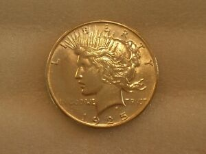 1925 P PEACE DOLLAR SILVER LIGHT TONING HISTORY UNKNOWN US COIN