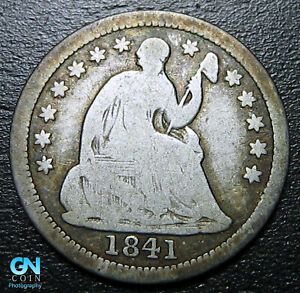 1841 P SEATED HALF DIME     MAKE US AN OFFER   P9996