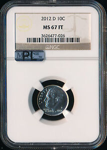 Click now to see the BUY IT NOW Price! 2012 D ROOSEVELT DIME NGC MAC MS67 PL 2ND FINEST REGISTRY