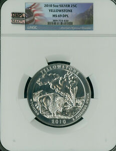 Click now to see the BUY IT NOW Price! 2010 YELLOWSTONE 5 OZ QUARTER NGC MAC MS69 DPL DMPL PQ FINEST POP 47 SPOTLESS ..