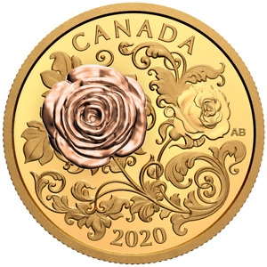 Click now to see the BUY IT NOW Price! CANADA 2020 200$  THE QUEEN ELIZABETH ROSE 3D 1OZ. PURE PINK GOLD COIN FLOWERS