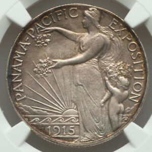 Click now to see the BUY IT NOW Price! 1915 S 50 PANAMA PACIFIC SILVER COMMEMORATIVE HALF DOLLAR MS64 NGC