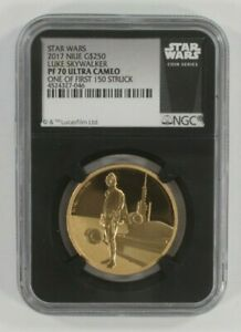 Click now to see the BUY IT NOW Price! STAR WARS LUKE SKYWALKER 1 OZ. GOLD AND SILVER SET NGC PF70 ULTRA CAMEO W/ COAS