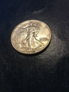 1942 D WALKING LIBERTY HALF XF SEE MY LISTINGS FOR SILVER HALF & SILVER DOLLARS