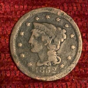 1852 BRAIDED HAIR LIBERTY LARGE CENT