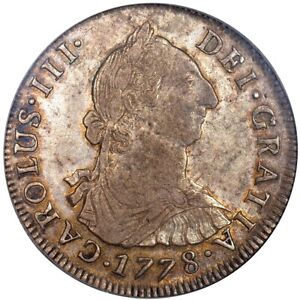 Click now to see the BUY IT NOW Price! 1778 PTS BOLIVIA 4 REALES PCGS AU55