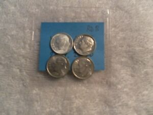 LOT OF  4 UNCIRCULATED ROOSEVELT DIMES 1955 D  1980S 1985 S 2013 P 2013   RD8