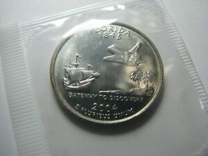 2004 P FLORIDA STATE   WASHINGTON STATEHOOD QUARTER IN ORIGINAL MINT CELLO