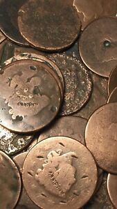 1816 1851 LARG CENT NO DAYTS 1 EACH .
