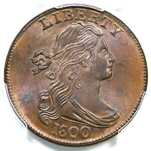 Click now to see the BUY IT NOW Price! 1800/1798 S 190 R 3 PCGS MS 65 BN CAC DRAPED BUST LARGE CENT COIN 1C