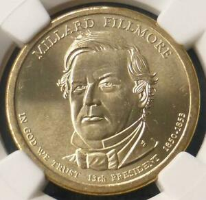 2010  NGC MS 66 PRESIDENT FILLMORE MISSING EDGE LETTERING MINT ERROR DOLLAR