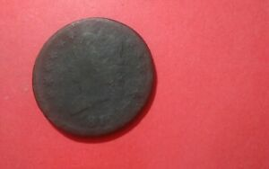 1812 OR 1819??CLASSIC HEAD LARGE ONE CENT COIN LOW GRADE.