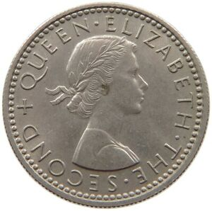 NEW ZEALAND 6 PENCE 1960 TOP S40 563
