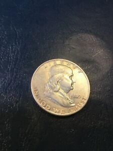 1949 D FRANKLIN HALF SEE MY LISTINGS FOR BIRTH YEAR GIFTS & SILVER DOLLARS
