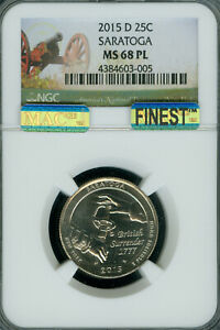 Click now to see the BUY IT NOW Price! 2015 D SARATOGA QUARTER NGC MS68 PL PQ MAC FINEST MAC SPOTLESS POP 6 .