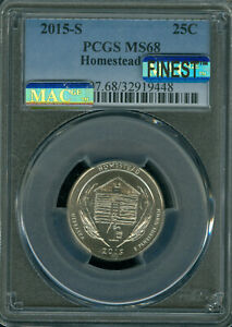 Click now to see the BUY IT NOW Price! 2015 S  HOMESTEAD QUARTER PCGS MS68 PQ MAC FINEST MAC SPOTLESS ..