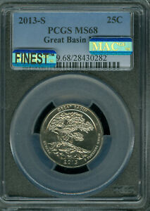 Click now to see the BUY IT NOW Price! 2013 S GREAT BASIN QUARTER PCGS MS68 PQ MAC FINEST MAC SPOTLESS POP 4  ..