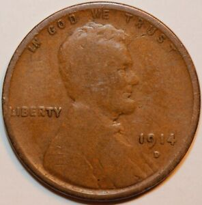 1914 D LINCOLN CENT  KEY DATE        0070