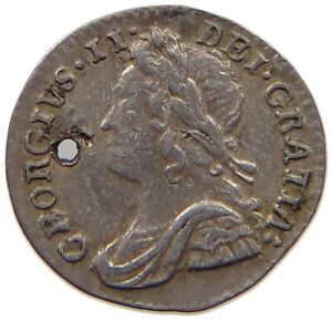 GREAT BRITAIN MAUNDY PENNY 1757 GEORGE II. T73 157
