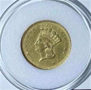 1856 GOLD INDIAN PRINCESS WITH UPRIGHT 5