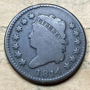 1814 CLASSIC LARGE CENT  VG/F