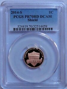 2014 S  LINCOLN SHIELD CENT  PCGS PR70RD DCAM   NO SPOTS OR HAZING