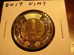 2017   VIMY   CANADA  TWO DOLLAR   BRILLIANT UNCIRCULATED TOONIE   CANADIAN $2