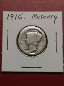 1916 MERCURY SILVER DIME   FIRST YEAR OF ISSUE