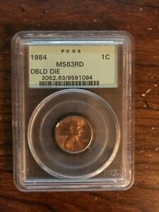 1984 MEMORIAL LINCOLN CENT   MS 63RD   DOUBLE DIE PCGS