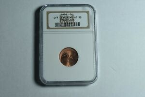 ERROR OF CENTER 1999 P LINCOLN MEMORIAL CENT NGC MS 67 RD