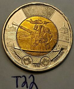 2016 CANADA REMEMBER 2 DOLLAR TOONIE COIN T22B