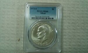 1973 S SILVER EISENHOWER DOLLAR $1 PCGS MS66