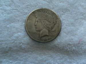 1922 S PEACE SILVER DOLLAR VF PEACE MINT ERROR