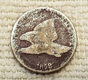 1858 FLYING EAGLE ONE CENT COIN