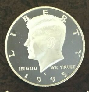 Click now to see the BUY IT NOW Price! 1995 S SILVER KENNEDY HALF DOLLAR DCAM 90  SILVER PROOF IMPAIRED ALBUM FILLER