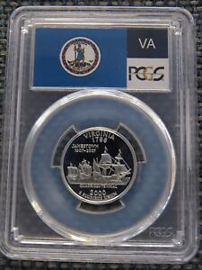 Click now to see the BUY IT NOW Price! 2000 S 25C VIRGINIA SILVER QUARTER PROOF PCGS PR70DCAM STATE FLAG DEEP CAMEO