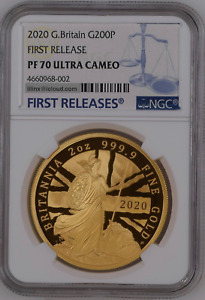 Click now to see the BUY IT NOW Price! 2020 GREAT BRITAIN GOLD 2 OZ BRITANNIA 200 POUNDS NGC PF70UC FIRST RELEASE