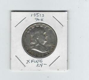 1951 S XF FRANKLYN HALF DOLLAR