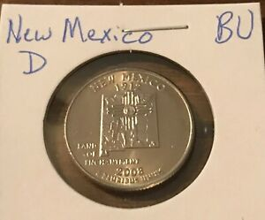 2008 D NEW MEXICO 50 STATES QUARTER  BUY 6 GET 40  OFF  720  BU