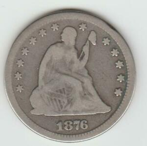 1876  LIBERTY SEATED SILVER QUARTER