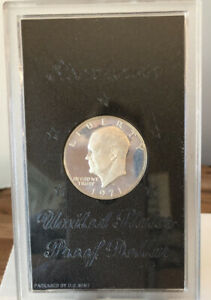 1971 S PROOF EISENHOWER U.S. SILVER DOLLAR PACKAGED BY U.S. MINT