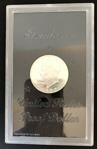 1972 S PROOF U.S. DWIGHT EISENHOWER SILVER DOLLAR COIN PACKAGED BY THE US MINT