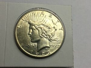 1923 S PEACE DOLLAR IN ALMOST UNCIRCULATED PLUS PLUS