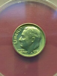 1972 10C ROOSEVELT DIME CERTIFIED MS66