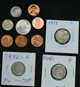 NICE OLD AND NEW MODERN US COIN MIXED LOT 2 CIRCULATED   BU ATB LMC AND MORE