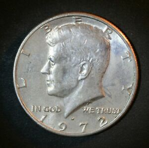 1972 D KENNEDY HALF DOLLAR FROM UNCIRCULATED MINT ROLL