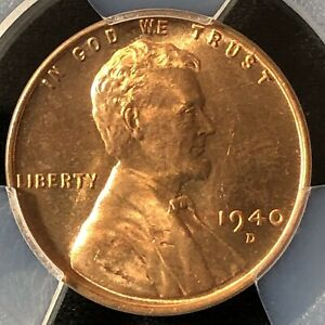 1940 D 1C RD LINCOLN WHEAT ONE CENT  PCGS MS66RD                39000644