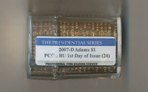 Click now to see the BUY IT NOW Price! 2007 D ADAMS PRESIDENTIAL DOLLAR ROLL OF 20 PCGS BU 1ST DAY OF ISSUE