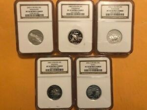 Click now to see the BUY IT NOW Price! 2002 S COMPLETE 5 COIN SILVER STATE QUARTER PROOF SET NGC GRADED PF70 UCAM